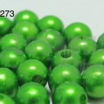 ลูกปัดมุก พลาสติก สีเขียว 1 ขีด
