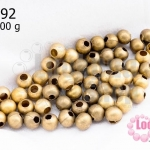 ลูกปัดทองเหลืองด้าน กลม 5มิล (1ขีด/100กรัม)