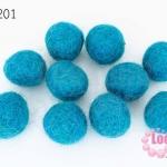 ลูกบอล Feit 15มิล #3 สีฟ้า (5ลูก)