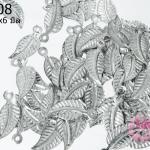 จี้โรเดียม ใบไม้จิ๋ว 15x6 มิล (10กรัม)
