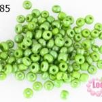 ลูกปัดจีน กลม สีเขียวอ่อนมุก 4มิล #L (5กรัม)