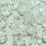 คริสตัลพลาสติก สีขาว 8มิล (590เม็ด)