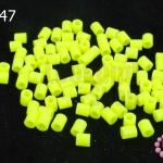 เม็ดบีทรีดร้อน สีเขียวสะท้อนแสง 5 มิล (1ขีด/100กรัม)