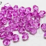คริสตัลพลาสติก สีม่วงอ่อน 8มิล(100กรัม)(590เม็ด)