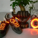 เชือกผูกรองเท้าไฟสีส้ม Shoelace - LED Orange color