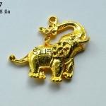 จี้รูปช้างสีทอง 35X38 มิล (1ชิ้น)