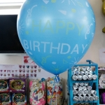 """ลูกโป่งจัมโบ้ สีน้ำเงินพิมพ์ลาย Happy Birthday ขนาด 24 นิ้ว - Round Jumbo Balloon Blue printing HBD 24"""""""