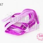 เชือกผ้า ริบบิ้นกำมะยี่ สีม่วง (1เส้น/1หลา)