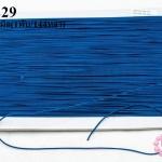 เชือกยางยืด สีน้ำเงิน 1มิล(1พับ/144หลา)