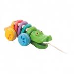 ของเล่นไม้ ของเล่นเด็ก ของเล่นเสริมพัฒนาการ Rainbow Alligator จระเข้สายรุ้ง (ส่งฟรี)