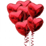 ลูกโป่งฟลอย์รูปหัวใจ สีแดง ไซส์ 18 นิ้ว - Heart Shape Balloon Red Color / No.TL-G011