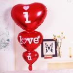 ลูกโป่งฟลอย์รูปหัวใจ สีแดง I LOVE YOU ต่อกัน-Love Series Heart Shape Foil Balloon / Item No.TL-E050