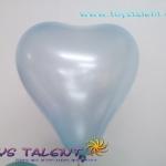 ลูกโป่งหัวใจ เนื้อมุก สีฟ้าอ่อน ไซส์ 6 นิ้ว แพ็คละ 10 ใบ