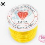 เอ็นยืด สีเหลืองทอง ม้วนใหญ่ (1ม้วน/30หลา)
