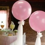 """ลูกโป่งกลมจัมโบ้ไซส์ใหญ่ 30""""Latex Balloon RB Pearl Pink สีชมพูมุก / Item No. TQ-39761 แบรนด์ Qualatex"""