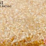 ลูกปัดจีน ปล้องสั้น สีทองอ่อนเหลือบรุ้ง 2X2มิล (1ถุง/450กรัม)