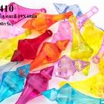ลูกปัดพลาสติก หยดน้ำ สีใส คละสี 19X48มิล (1ขีด/100กรัม)
