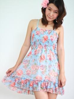 พร้อมส่ง ** เดรส Blue Florian Dress