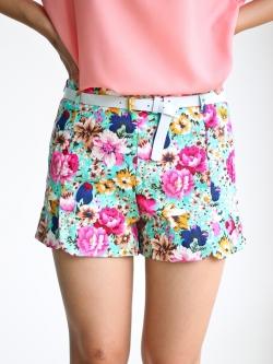 Sexy Florist Short Pant (blue)