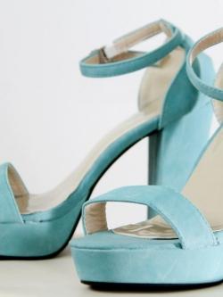 Sexy Pop High Heels { blue }