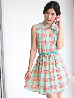 Sweet Grid Dress (pink)