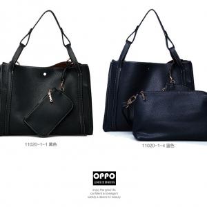 กระเป๋าหนังปั้มลาย เกรดA แบรนด์ OPPO สีดำ ยกชุดได้ 3 ใบ คุณภาพดี(รับประกันของแท้เหมือนแบบ 100%) VIP : 1500