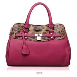 กระเป๋าหนัง pu เกรด A แบรนด์ OPPO สีชมพูอมม่วงลายลีโอ ทรงแอร์เมท(รับประกันของแท้ เหมือนแบบ 100%)