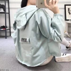 เสื้อผ้าแฟชั่นเกาหลีพร้อมส่ง - แจ็คเก็ตหูกระต่ายสีเขียวมิ้นน่ารัก ๆ VIP : 290