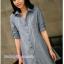 เสื้อเชิ้ตคลุมท้องคอปก แขนยาว : สีฟ้าอ่อน รหัส CK100 thumbnail 5