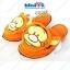 รองเท้า หมีพู+เพื่อน-Pooh&Friends Slipper รุ่นด๊อกแด๊ก พื้นบาง ฟรีไซส์(เบอร์36-38) thumbnail 5