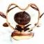 Coconut Shell Lamp (โคมไฟกะลามะพร้าวรูปต้นดอกไม้หัวใจ) thumbnail 1