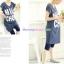 กางเกงเลคกิ้งคลุมท้อง ผ้าคอตตอน : สีน้ำเงิน รหัส PN047 thumbnail 3