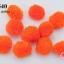ปอมปอมไหมพรม สีส้ม 3ซม (10ชิ้น) thumbnail 1