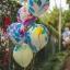"""ลูกโป่งกลมพิมพ์ลาย สีรุ้ง ไซส์ 12 นิ้ว แพ็คละ 5 ใบ (Round Balloons 12"""" - Rainbow Printing latex balloons) thumbnail 1"""