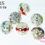 ตัวแต่งสร้อยหินนำโชคบอลโปร่ง สีเงิน เพชรรวมสีเงิน เพชร สีรวม 10 มิล 10 เม็ด thumbnail 1