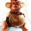 Coconut Shell Crafts Lamp Monkey hold coconut, โคมไฟกะลามะพร้าวลิงถือลูกมะพร้าว thumbnail 1