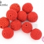 ลูกปัดเม็ดถัก สีแดง 20มิล(10ชิ้น) thumbnail 1