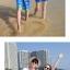 เสื้อคู่รัก ชุดคู่รักเที่ยวทะเลชาย +หญิง เสื้อยืดสีขาวลายคู่รักสวีทเที่ยวทะเล กางเกงขาสั้นลายมะพร้าวโทนสีฟ้า +พร้อมส่ง+ thumbnail 5