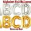 """ลูกโป่งฟลอย์รูปตัวอักษร P สีทอง ไซส์จัมโบ้ 40 นิ้ว - P Letter Shape Foil Balloon Size 40"""" Gold Color thumbnail 9"""