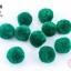 ปอมปอมไหมพรม กลม สีเขียวเข้ม 3.5ซม. (10 ลูก) thumbnail 1