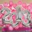 """ลูกโป่งฟอยล์รูปตัวเลข 1 สีเงิน ไซส์จัมโบ้ 40 นิ้ว - Number 1 Shape Foil Balloon Size 40"""" Silver Color thumbnail 5"""