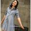เสื้อเชิ้ตคลุมท้องคอปก แขนยาว : สีฟ้าอ่อน รหัส CK100 thumbnail 1