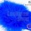 ขนนกมีริบบิ้น สีน้ำเงิน ยาว 5 ซม. thumbnail 1