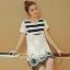 เดรสคลุมท้องแฟชั่นเกาหลี โทนสีขาวผ้าซีฟอง thumbnail 5