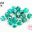 ลูกปัดแก้ว ลูกตา สีเขียวอมฟ้า 10 มิล (1ขีด/100กรัม) thumbnail 1