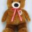 """ตุ๊กตา หมียืน ผ้าขนนุ่ม จัมโบ้ วัดยืนสูง120ซม.(48"""") / วัดนั่งสูง 80ซม.(32"""") thumbnail 1"""