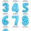 """ลูกโป่งฟอยล์รูปตัวเลข 9 สีฟ้าพิมพ์ลายดาว ไซส์จัมโบ้ 40 นิ้ว - Number 9 Shape Foil Balloon Size 40"""" Blue Color printing Star thumbnail 2"""