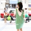 ชุดเอี๊ยมคลุมท้องผ้าคอตตอนลายขวาง มีเสื้อยืดคอวี : สีเขียว รหัส BM034 thumbnail 7