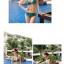 พร้อมส่ง ชุดว่ายน้ำบิกินี่ทูพีชสีเขียวเข้ม ที่บราและบิกินี่แต่งห่วงเหล็กสีทองฉลุลายสุดสวย thumbnail 6
