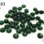 ลูกปัดแก้ว ทรงจานบิน สีเขียว 8มิล(1ขีด/100กรัม) thumbnail 1